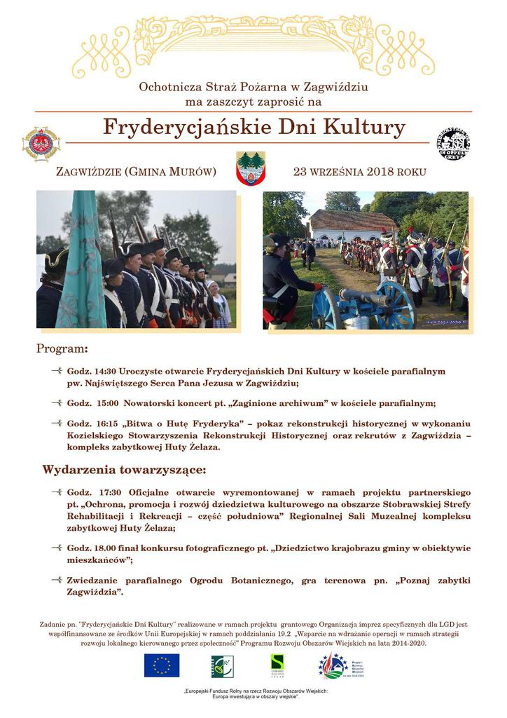plakat Fryderycjańskie Dni Kultury w Zagwiździu.jpeg